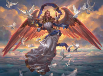 MTG: Angel of Dawn by Dopaprime