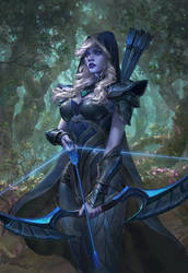 Drow Ranger by Dopaprime