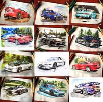 MR2 cars by 24Pamela