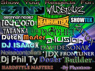 Hardstyle Artists by phantom914