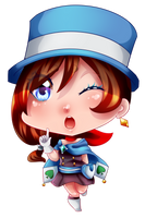 [Speedpaint] Trucy Chibi by MikomiKisomi