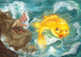 The Fisherman and the Goldfish 2013th. by RosieVangelova
