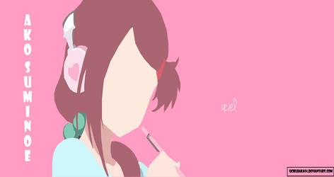ako suminoe kissxsis anime flat wallpaper by ucielbaka94 on