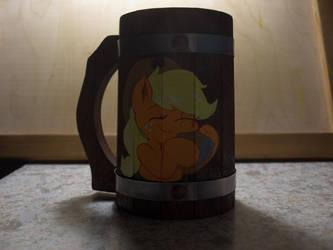 Beer oak mug AppleJack (not ready yet) by Goregrind666