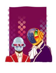 Daft Punk by bunnymoomoo