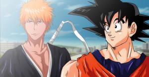 Bleach Ichigo Kurosaki DBZ Goku Crossover Request by Mr123GOKU123