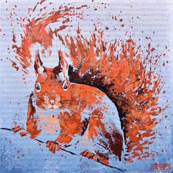 L'ecureuil d'Eurasie by JessicaSansiquet