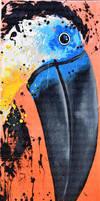 Gros bec noir by JessicaSansiquet