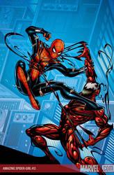 spidergirl vs carnage by kalulu77