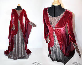Rivendell Elven Gown Costume Lord of the Rings by Volto-Nero-Costumes
