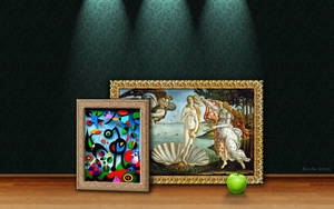 Botticelli, Miro and Apple by Borche
