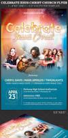 Celebrate Jesus Christ Concert Flyer Template by Godserv