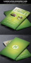 Landscaping Business Card Template by Godserv