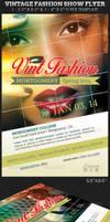 Vintage Fashion Show Flyer Template by Godserv
