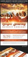 Gospel Benefit Concert Church Flyer Template by Godserv