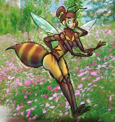 TF - COM: Bee Yourself, D.Va by BeingObscene
