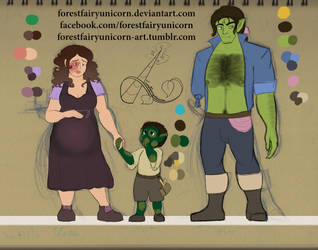 DOTL: NPCs Design 1, Family Portriat by forestfairyunicorn
