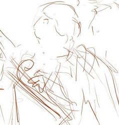 comic sketch by krysiaida