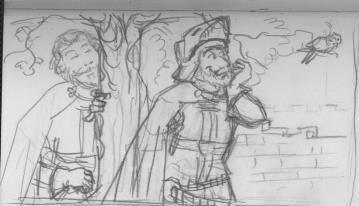 hand-sketch for a comic strip (c.a. 2010) by krysiaida