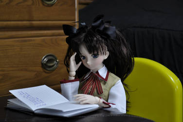 Rin's Studying Hard by alamarco