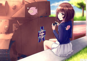 Girls und Panzer Akiyama Yukari by Karkovb152
