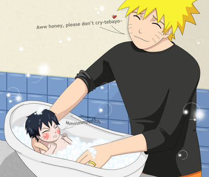 I don't want a bath by PRoachHeart-Sasuke