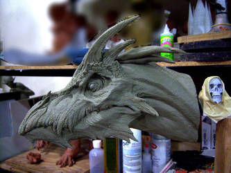 Dragon, clay sketch. by DaveGrasso