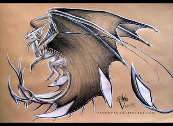 Pencil Dragon #06 by PandiiVan
