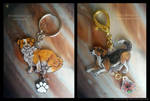 Charming Pup Charms by MoonsongWolf