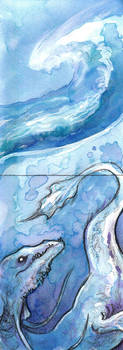 ACEO: Deep Rising by MoonsongWolf