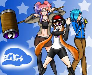 SMG4 Girls by NickyVendetta