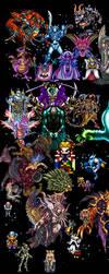 SquareEnix Villains of the SNES Age by Tailikku1