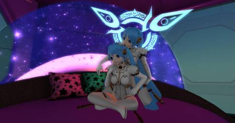 Gemini Cuddle by Tailikku1