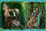'WoodElves'-Aralyn+Poldalle by PoldalleLovesnare