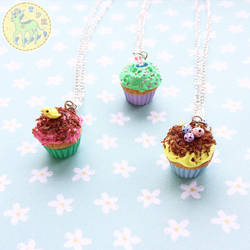 Easter Cupcake Necklaces by FaeElixir