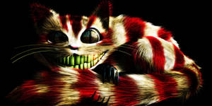 Evil Cheshire Cat by Necroglyph