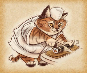 Sushi chef by Seanica