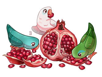 Parrotlets With Garnet by Seanica