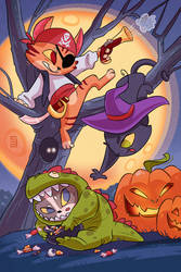 Halloween Kittens by Seanica