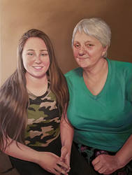 Mom and Alyssa by ChristineMarieArt