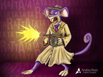 Rattata Character Design Challenge by Andresin90