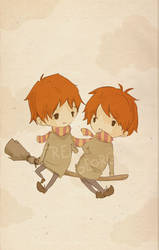 Fred and George by faQy