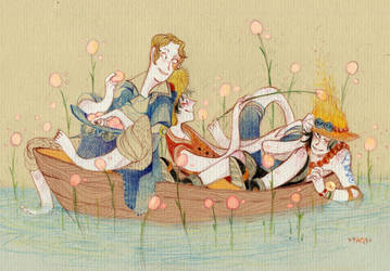 marshmallow's lake by faQy