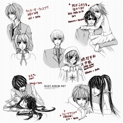 Couples Sketch Dump 2 by aeriim