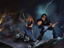 Eddie Riggs and I (Brutal Legend) by mashakrol