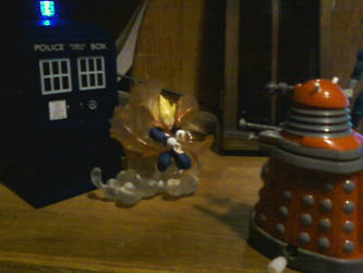 Vegeta Defends the TARDIS by ShadowpwnLord9999