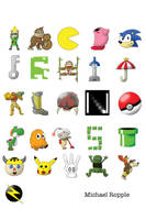 Video Game Alphabet by spacepig22