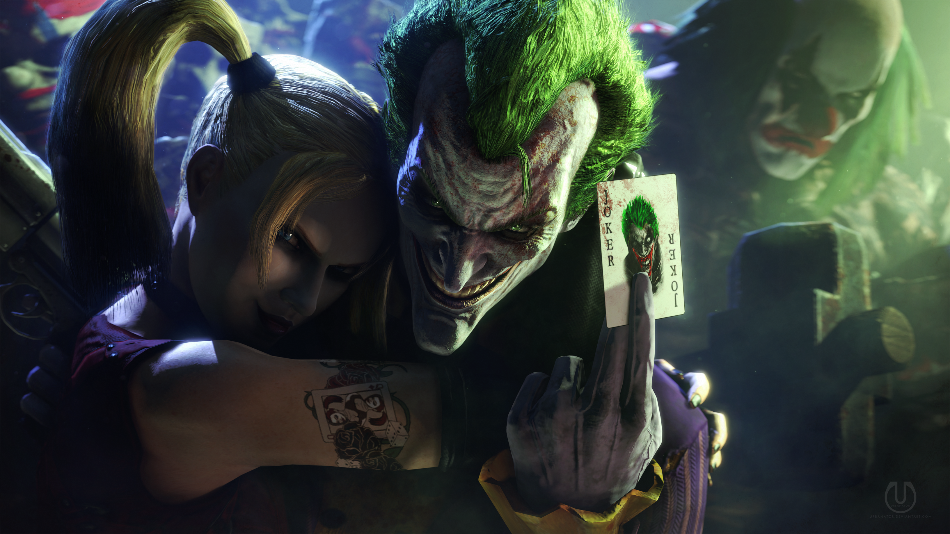 Joker and Harley Quinn | Batman by Urbanator