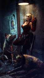 Harley and Her Lil Puddins   Batman by Urbanator