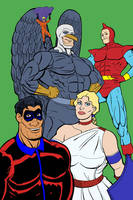 Righteous League in Color by darrellsan
